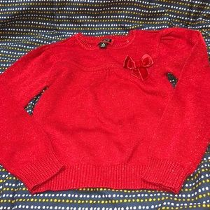 BRAND NEW TODDLER SIZE 5 RED SPARKLY LONG SLEEVE❤️